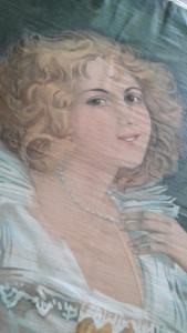 Cloth woman face close